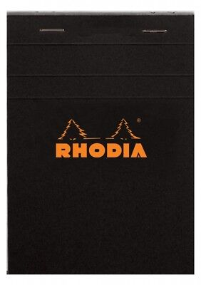 Rhodia Staplebound - Notepad - Black - Graph - 80 Sheets - 6 X 8.25 - R162009