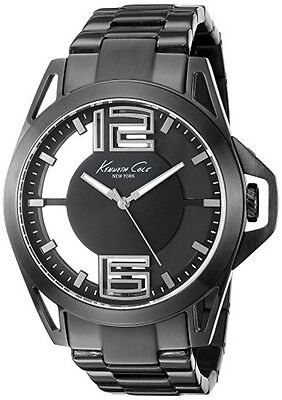 Kenneth Cole NY Men's Analog Quartz Black Stainless Steel Watch KC10022527