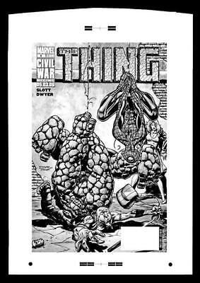 Andrea Divito Thing #6 Rare Large Production Art Cover Mono