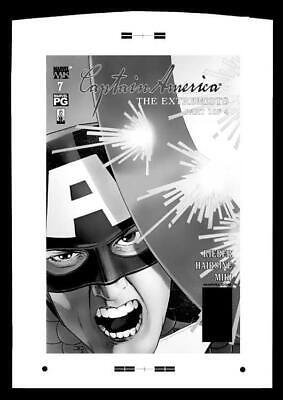 John Cassaday Captain America #7 Rare Large Production Art Cover Mono
