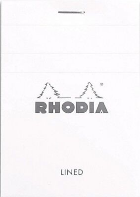 Rhodia Staplebound - Notepad - Ice - Lined - 80 Sheets - 3 X 4 - New R11601w