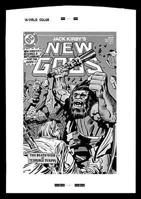 Jack Kirby New Gods #4 Rare Large Production Art Cover Mono