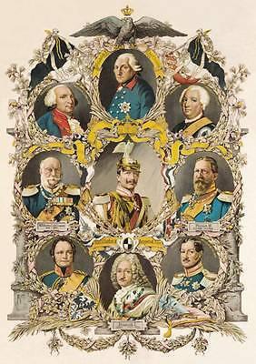 Kaiser Wilhelm II. Friedrich I. Hohenzollern Ahnentafel 1871 - 1918 Faksimile 6