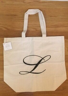 NEW Pottery Barn Personalized Alphabet MEDIUM Grocery Tote Bag MONOGRAM