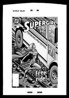 Phil Jimenez Supergirl #10 Rare Large Production Art Cover Mono