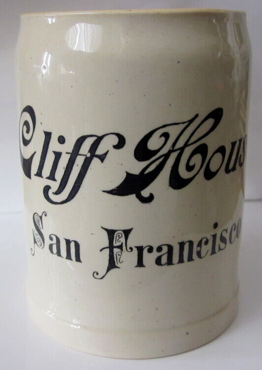 rare early 1900 souvenir German stein Cliff House San Francisco 4/10 lt