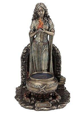 Celtic Goddess Brigid Brigit Flame and Cauldron Pagan Saint Statue #WU77090A4