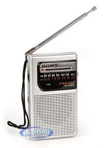Sony ICF-S10MK2 (ICFS10MK2) Silver Pocket Analog AM/FM Radio w/ Headphone Output