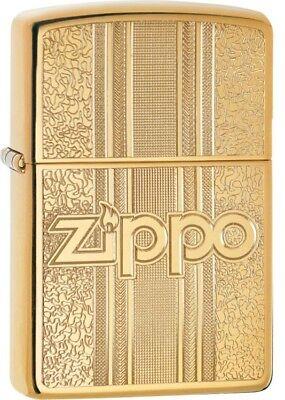 ZIPPO - BENZIN - FEUERZEUG - BRASS - MESSING - POLIERT - GRAVIERT - 60004310 ()