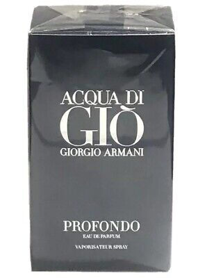 Acqua Di Gio Profondo By Giorgio Armani 2.5oz EDP Spray For Men New Launch