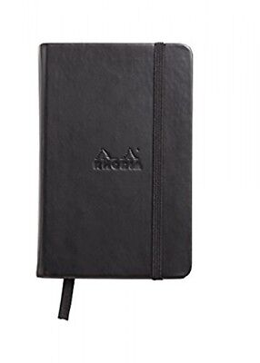 Rhodia Webnotebook - Black - Blank - 96 Sheets - 3.5 X 5.5 - New R118079