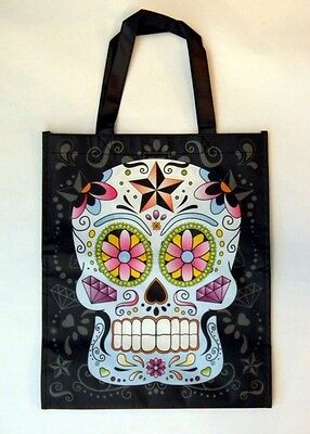 Day Of The Dead Suger Candy Skull Shopping Bag Reusable Recycled Grocery - Suger Skull