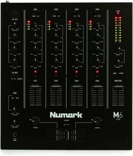 Numark M6 USB BLACK 4-channel DJ Mixer - Refurbished by Numark!