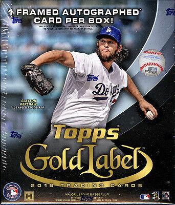 2016 Topps Gold Label Baseball SEALED HOBBY BOX (1 Auto per box)