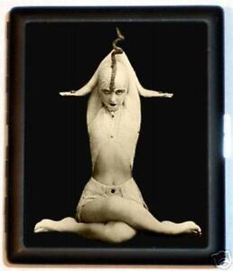 Art-Deco-Snake-Woman-Metal-Wallet-ID-Cigarette-Case