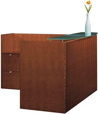 New Jade L-shape Office Reception Desk For Receptionist Waiting Room Counter