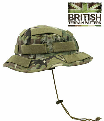 Mens Army Sun Boonie Military Combat Concealment Bush Hat BTP Camouflage Camo Camo Boonie Sun Hat