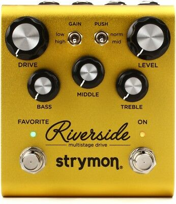 STRYMON RIVERSIDE Multistage Drive NEW Guitar Effect Pedal w/ FREE PICK
