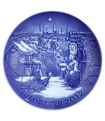 Bing & Grondahl 2012 Christmas Plate NIB Waiting for Santa 118th Edition on Rummage