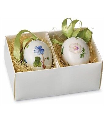 Royal Copenhagen Easter Egg Hepatica & Pansy Set of Two (2) Eggs NIB #249475 NEW on Rummage
