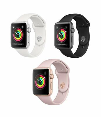 Apple Watch Series 3 42mm 38mm | GPS & or LTE | Aluminum Case Silicone Band!