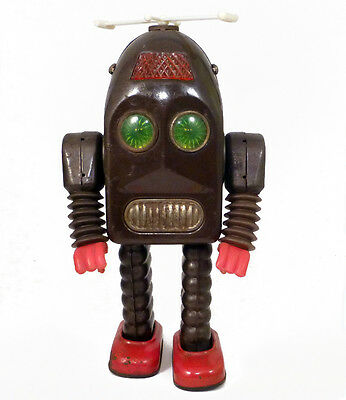 Original 1950s THUNDER ROBOT by Asakusa SEE VIDEO