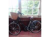 Pashley Princess Sovereign Hybrid Bike for sale in Black, Vintage Look with basket