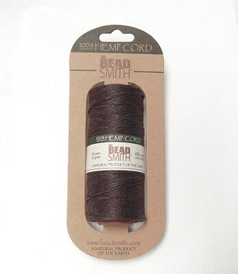 Brown #10 Hemp .5mm Cord for beading jewelry necklace bracelet VBS camp crafts (Camp Crafts)