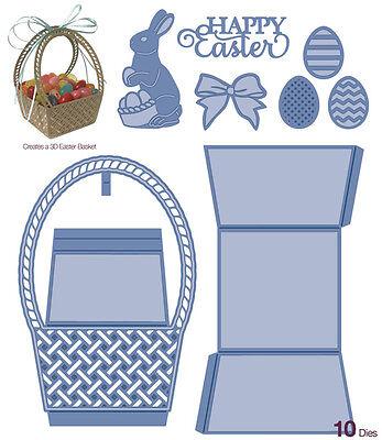Sue Wilson Dies Kinetics Collection ~ Easter Basket, 10 Piece Set CED22007 ~ - Easter Basket Craft
