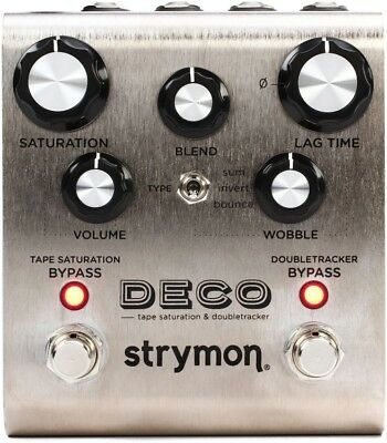 Strymon DECO Tape Saturation & Doubletracker NEW Guitar Effect Pedal w/FREE PICK