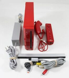 Special Edition Red Nintendo WII + 11 games and all accessories