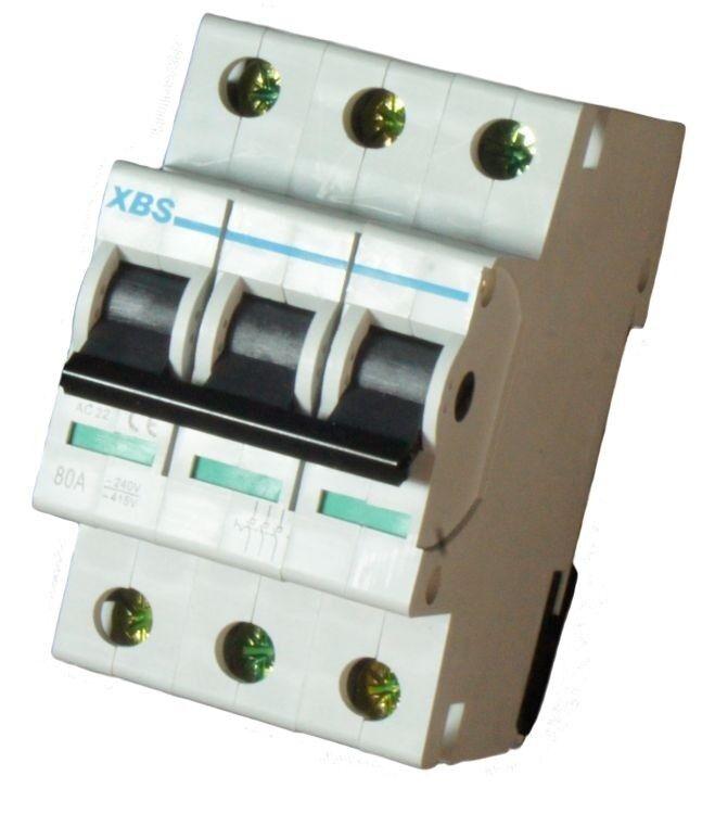 3-poliger Hauptschalter 80A Kompaktschalter für DIN-Hutschiene Trennschalter