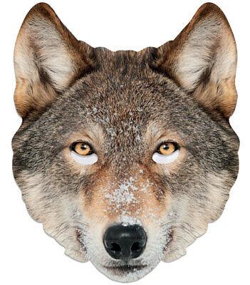 Wolf Tiere Einzeln 2d Karten Party Gesichtsmaske Kostüm Jagdhund World Book Day