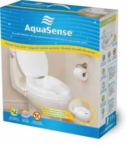 Raised Toilet Seat with Lid, by AquaSense - NEW