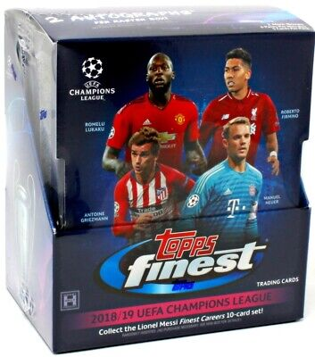 2018/19 TOPPS FINEST UEFA CHAMPIONS LEAGUE SOCCER 8 HOBBY BOX CASE BLOWOUT CARDS