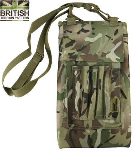 Army Combat Classic Military Map Case Folder Binder Camping Hiking Walking Camo