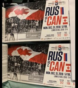 CANADA vs. RUSSIA, NEW YEARS EVE!! 600.00 for the pair!!