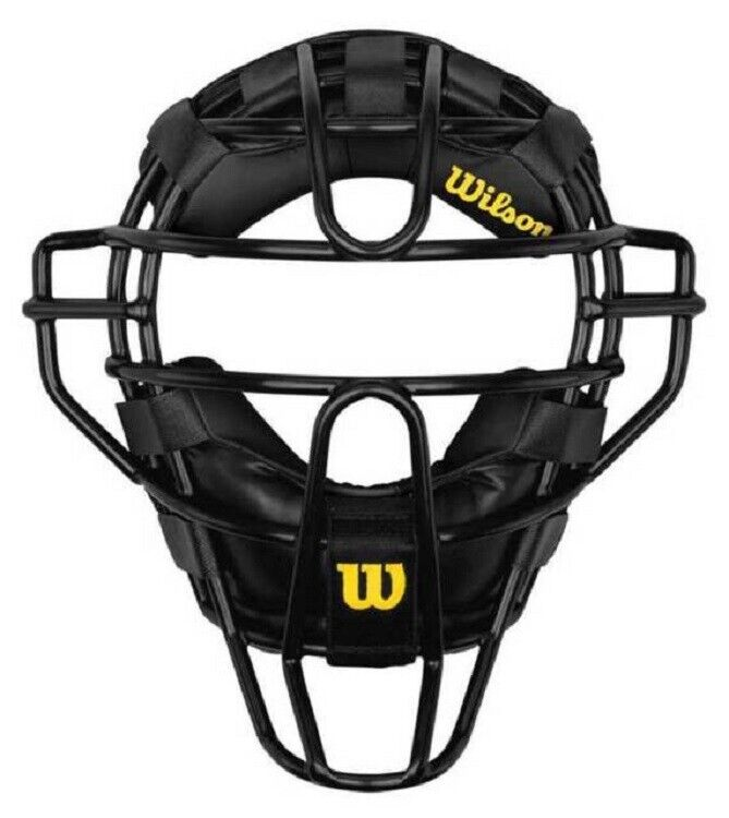 Wilson WTA3017 Umpire Black Dyna-Lite Traditional Steel Facemask Non Wrap Pads