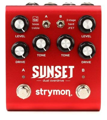 STRYMON SUNSET Dual Overdrive BRAND NEW Guitar Effect Pedal w/ FREE PICK