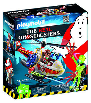 PLAYMOBIL Ghostbuster Venkman with Helicopter Building Set 9385