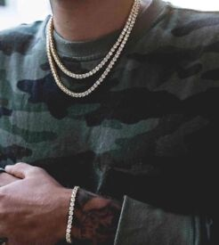 Men's iced Out chain and bracelet brand new necklace pendant