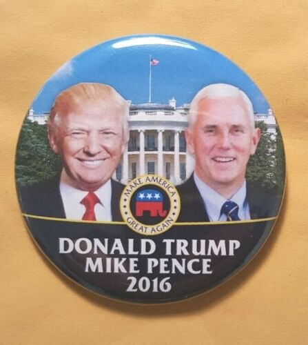 Donald Trump Mike Pence Campaign Button President 2016 Political Pinabck