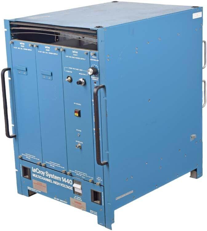 Lecroy 1440 HV System Modular Multichannel High Voltage CAMAC Control Mainframe