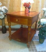 Immaculate! Exotic Asian Wood LARGE Side Table / Bedside Table