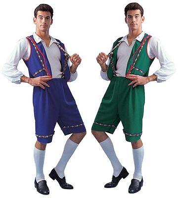 BAVARIAN OKTOBERFEST ALPINE ADULT SWISS LEDERHOSEN YODELER GERMAN MENS - Mens Lederhosen Costume