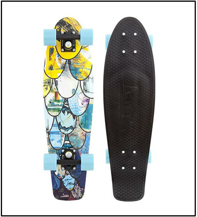 """PENNY 27"""" NICKEL COMPLETE SKATEBOARD, I Ride I Recycle, Au"""