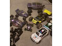 Radio Controlled cars job lot.. Nitro , Brushless. Swaps