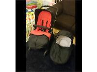mamas&papas glide pushchair all black
