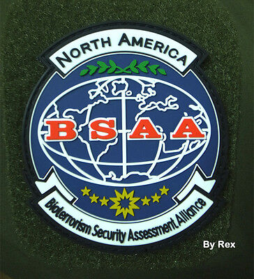 Resident Evil : BSAA North America BADGE   PVC 3D RUBBER Loop&Hook PATCH