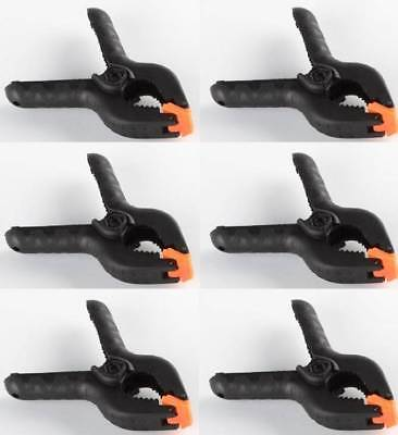 6 4 Plastic Nylon Spring Clamps Clips Soft Nose Woodworking Blanket Tent Fort